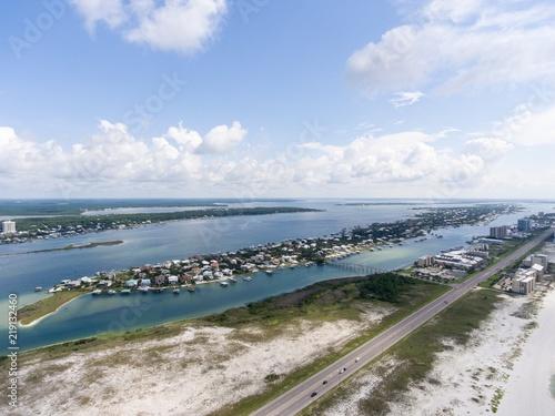 Poster Gris Aerial view of Orange Beach, Alabama & Ono Island