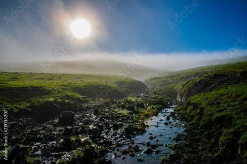 Foto op Aluminium Grijze traf. Farming landscape