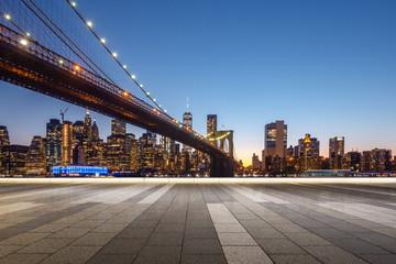 skyline of modern city new york