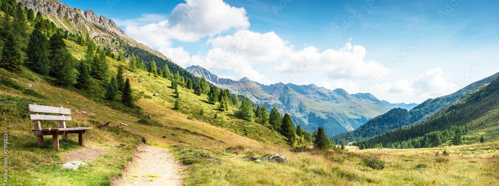Fototapeta panorama montano delle dolomiti