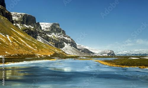 Foto op Aluminium Poolcirkel Paysage du sud de l'Islande