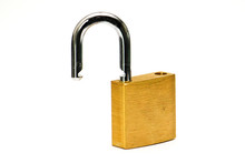 Open Padlock With White Backgr...