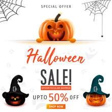 Hallowen Sale Vector Illustrat...
