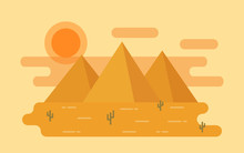 Desert Landscape. Vector. Illu...