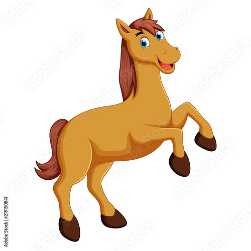 Poster Pony cute horse cartoon