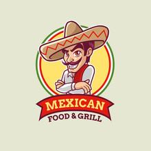 Mexican Man Logo Template