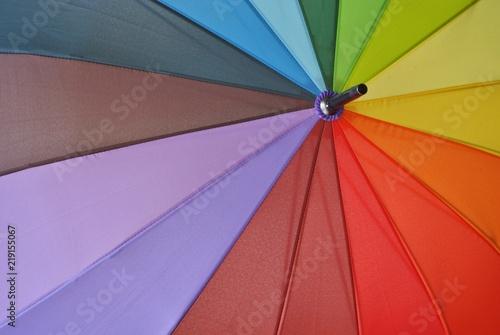 Tęczowy parasol