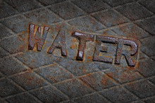 Water Sign On Metal Cover Of M...