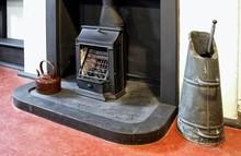 Old Fireplace, Grate, Coal Scu...