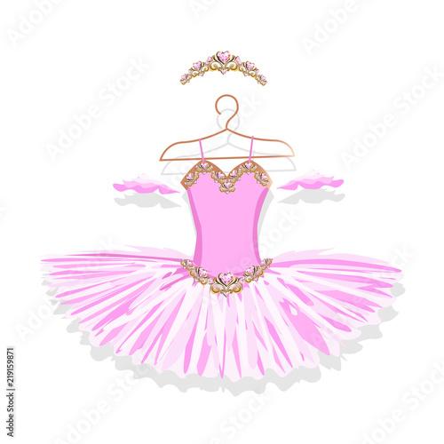 Fototapeta Ballet tutu on a hanger