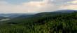 Porośnięte lasami wzgórza masywu Śnieżnika w części gór Sudetów Wschodnich - obcowanie z naturą