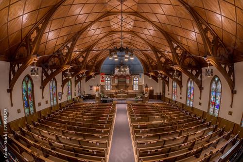 Edifice religieux Interior of the historic Central United Church of Lunenburg, Nova Scotia