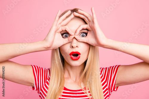 Facial emotion expression positive optimistic people concept. Cl Tableau sur Toile
