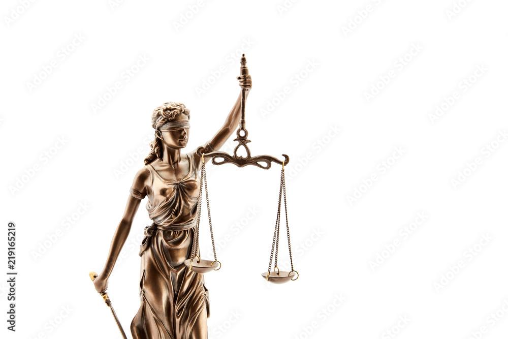 Fototapeta Blinde Justitia mit Waage für Gerechtigkeit