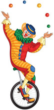 Cartoon Circus Clown Juggling ...