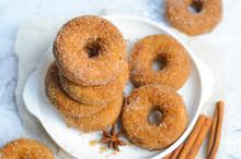 Cinnamon Donuts, Freshly Baked...