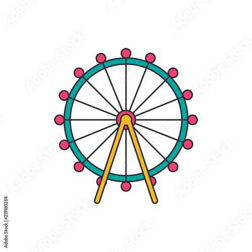 Obraz na plátně London eye icon, cartoon style