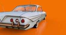 Old American Car In Excellent Condition. 3d Rendering.