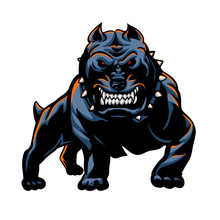 Devil Dog Vector Illustration