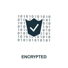 Encrypted Icon. Monochrome Sty...