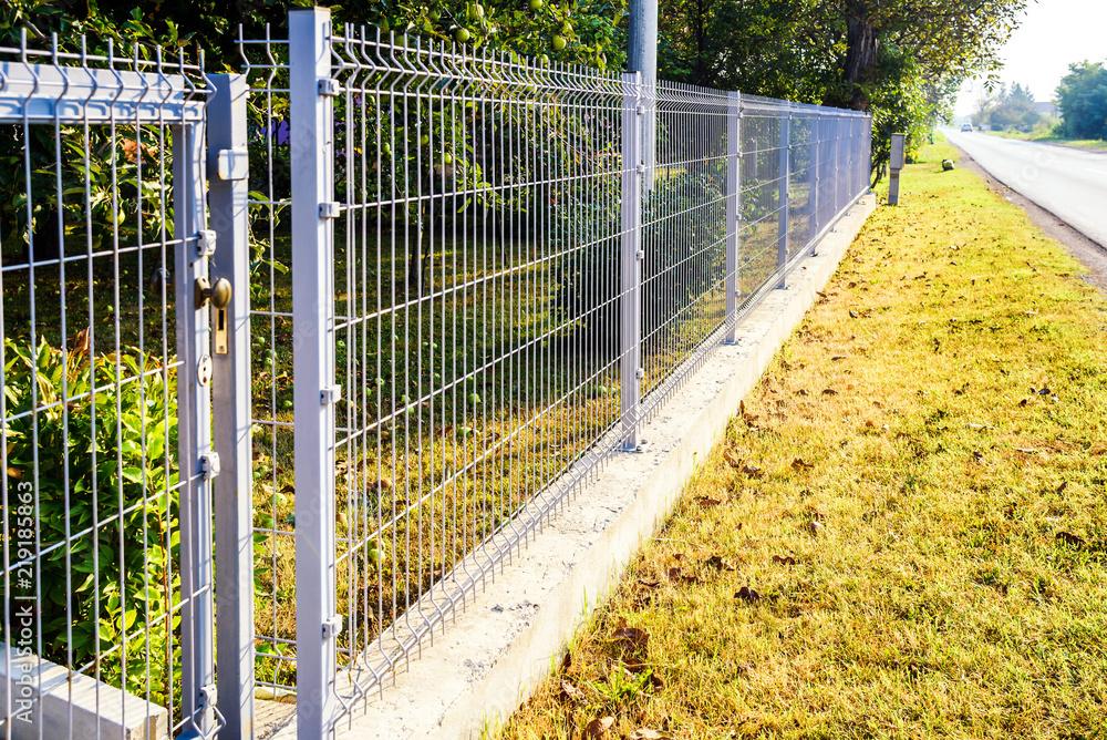Fototapeta grating wire industrial fence panels, pvc metal fence panel