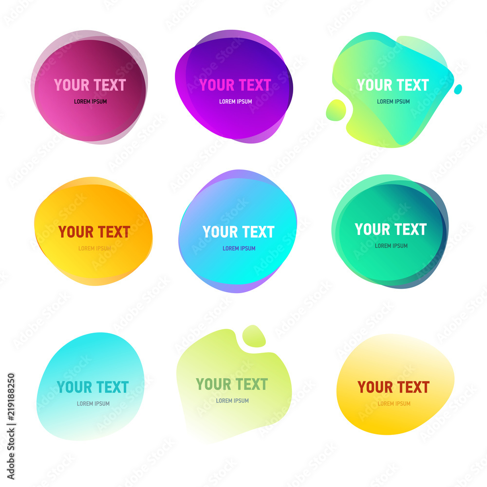 Abstract Round Shapes For Your Text Foto Poster Wandbilder