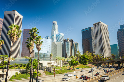 Photo sur Toile Los Angeles Los Angeles downtown