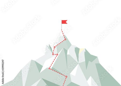 Cuadros en Lienzo Mountain climbing route to peak