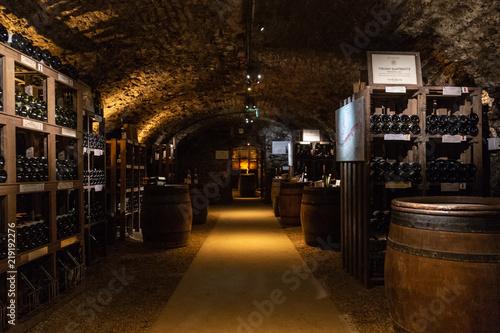 Fotografija Une salle de dégustation des caves Patriarche de Beaune, en Côte-d'or, les plus