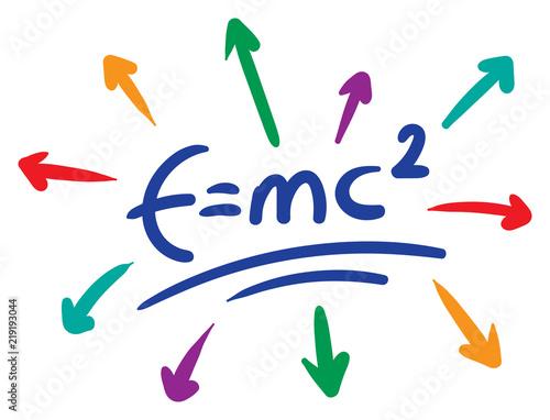 e=mc2 formula Canvas Print