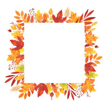 Watercolor Square Frame From ...
