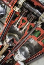 Schnittmodell Eines Dieselmotors