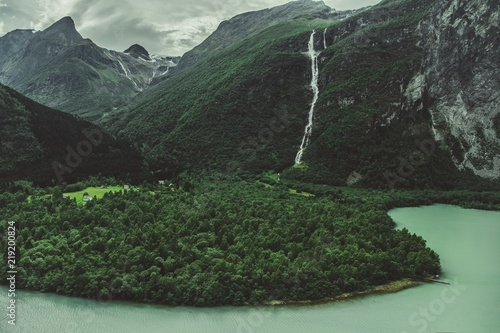 Foto op Plexiglas Landschappen Norwegian Glacial Landscape
