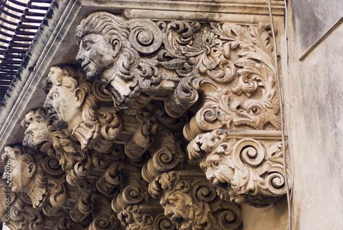 Poster Artistique Baroque balcony, Sicily