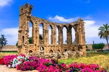 Landmarks Of Cyprus - Ruins Of The Church Of St John In Famagusta (Gazimagusa)