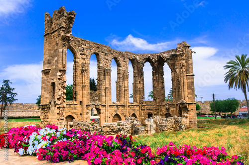 Landmarks of Cyprus - ruins of the Church of St John in Famagusta (Gazimagusa)