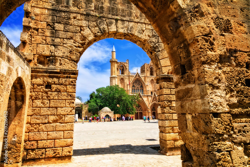 Landmarks of Cyprus -Lala Mustafa Pasha Mosque (St Nicholas Cathedral) in Famagusta