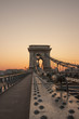 Chain bridge in sunrise, Budapest
