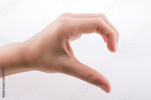 Valokuva  Hand gesture to  show the half of a heart