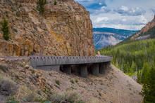 Yellowstone's Grand Loop Road Passes Through The Golden Gate Bridge