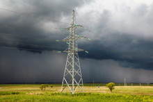 Power Line Support Stands In A...