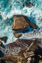 Waves Crashing - Aerial