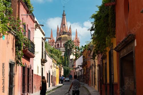 Fototapeta premium San Miguel de Allende to spokojne miasto w Meksyku