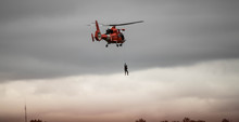 Coast Guard Helicopter Rescue Mission