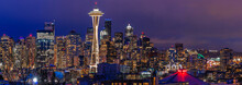 Seattle Skyline Panorama At Su...