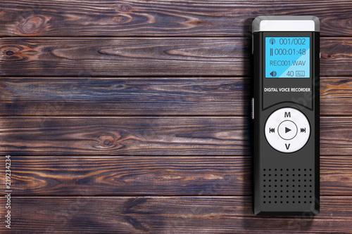 Cuadros en Lienzo Journalist Digital Voice Recorder or Dictaphone. 3d Rendering