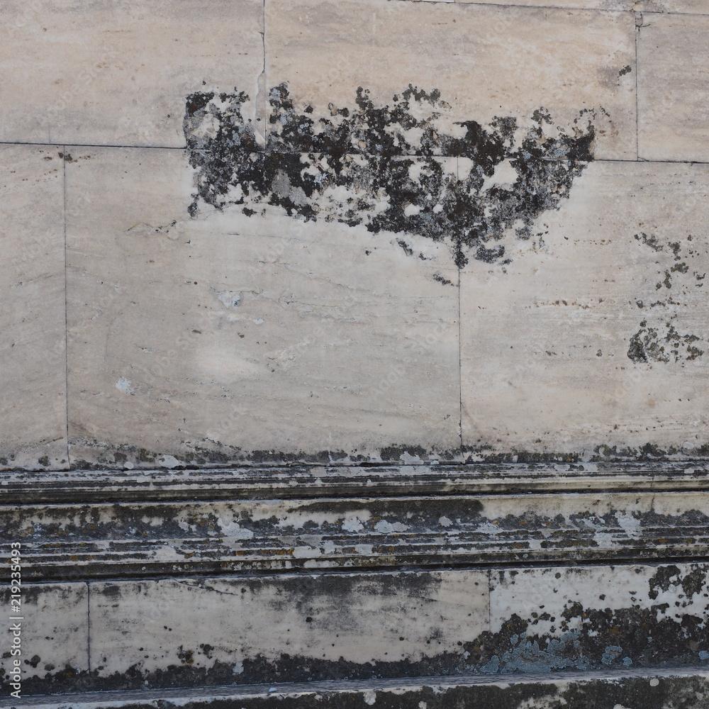 Antike griechische Mauer
