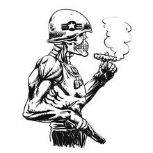 Military Zombie - Skull Milita...