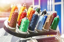 Bobbins With Colored Thread Fo...