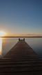 Steg am starnberger See bei Sonnenaufgang